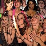strip-tease spécial enterrement de vie de jeune fille avec son public